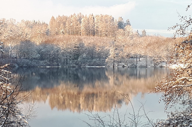 Brucher-Talsperre im Winter